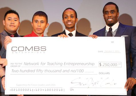 Diddy Donates $250,000 To Organization For Young Entrepreneurs