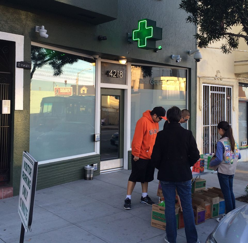 Girl Scout Makes Bank Selling Cookies Outside a Marijuana Clinic