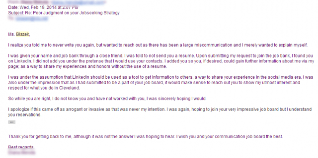 Email Blast Letter Job Search