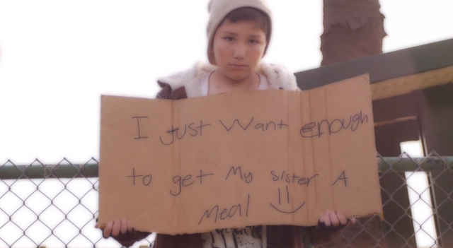 Little Boy Dresses Up As Homeless Person and Everyone Refuses to Help Him