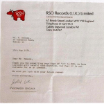 This is a Rejection Letter U2 Got From a Record Label Back in 1979
