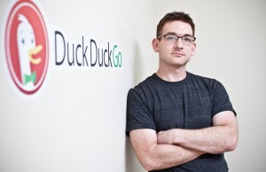 DuckDuckGo CEO with Logo