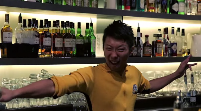 Guy Dresses in a Bruce Lee Onesie and Starts Bartending. Alcoholic Kung Fu Ensues
