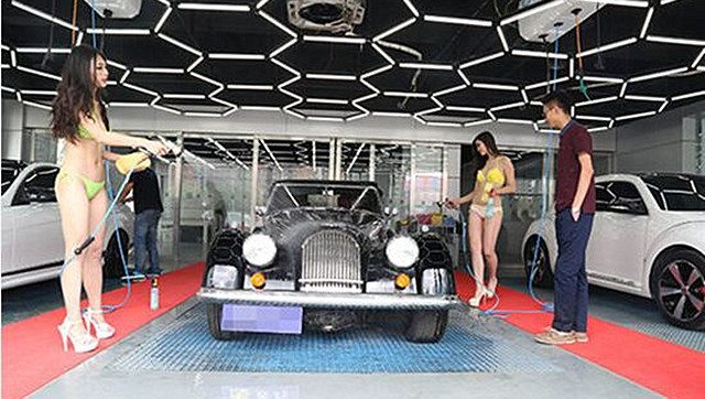 This Car Wash in Beijing is Exactly What it Looks Like