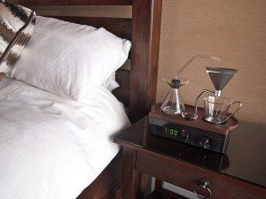 This Alarm Clock Doubles as a Bedside Coffee Maker
