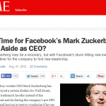 Two Years Ago They Doubted Him as a CEO. Today, Zuckerberg Gets the Last Laugh.