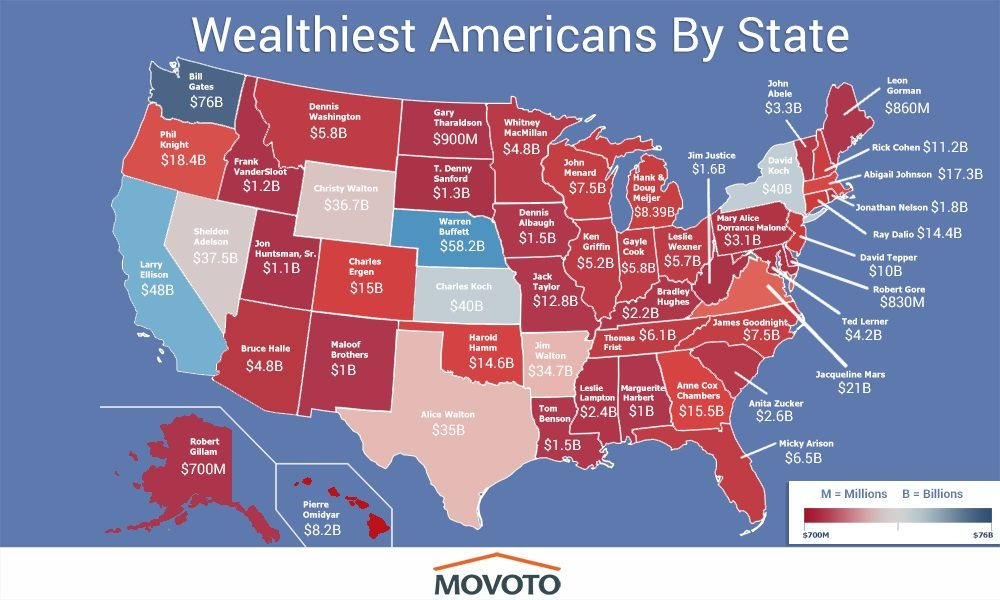 These Are The Richest People in Each State in America