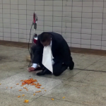 This Brand Manager Believes in His Product So Much He Eats Off a Subway Floor