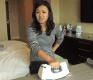 She Only Had a Coffee Pot and an Iron, But She Made a Full Breakfast in Her Hotel Room