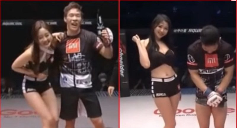 MMA Fighter Refuses to Take Photos With Ring Girl After Being