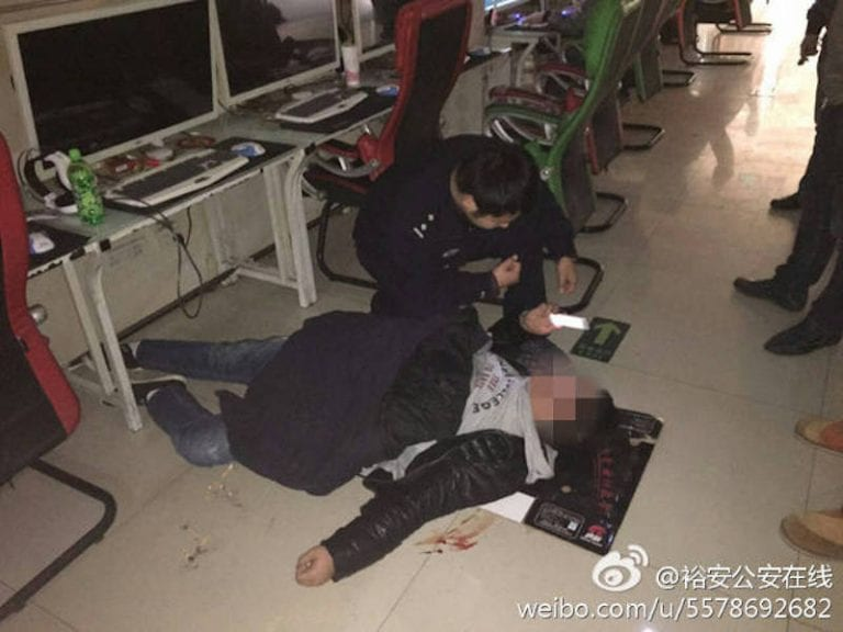 Chinese Man Collapses and Coughs Up Blood After 9-Hour