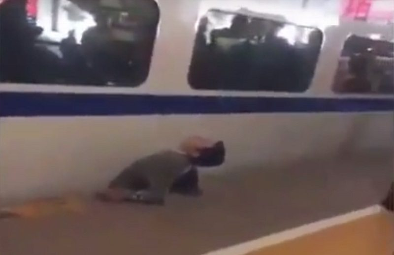 Chinese Man Crushed To Death After Trying To Cross Train
