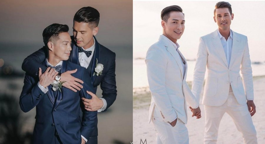 asian white gay couple