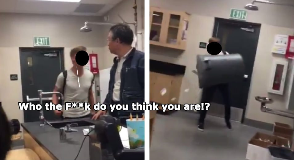 Asian girl raged by teacher
