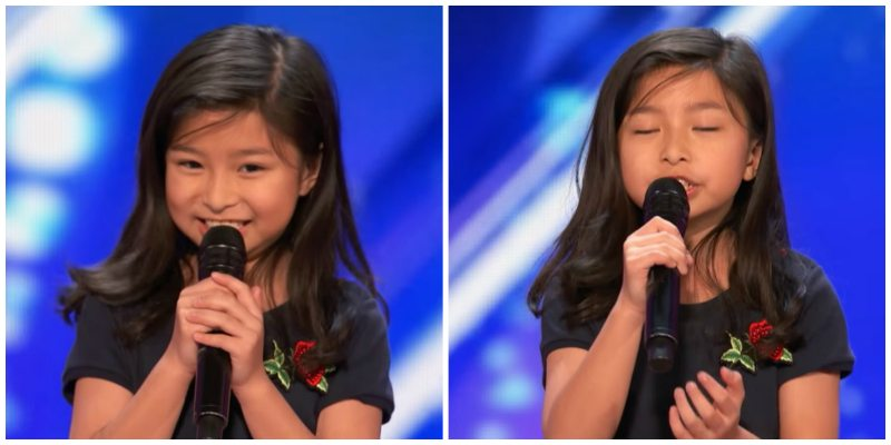9-Year-Old Girl - Named After Celiné Dion - Wows America's Got Talent Judges with 'My Heart Will Go On'