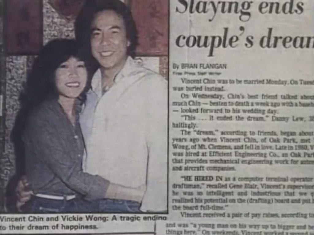 Vincent Chin Newsclipping Wedding 1982