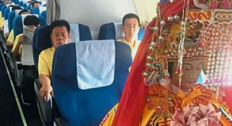 Chinese goddess flies business class for Malaysian tour