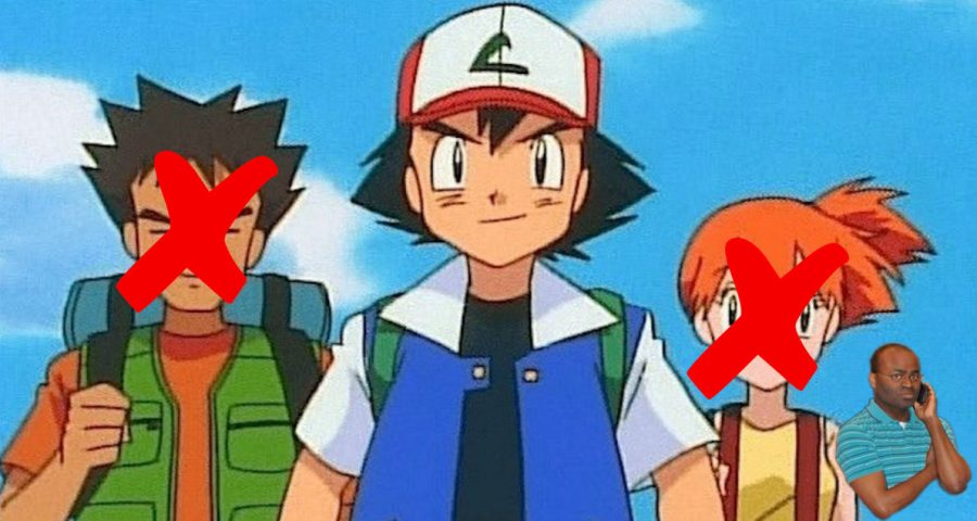 misty and brock meet ash against