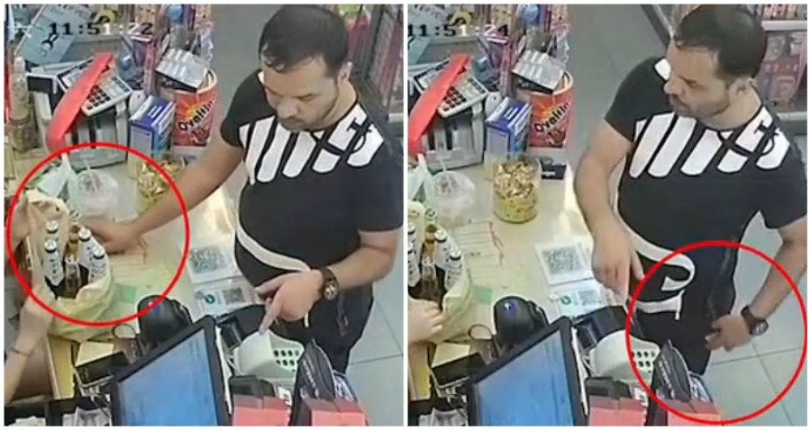 Foreigner in China Arrested After Stealing Cashier's Phone Like a Ninja