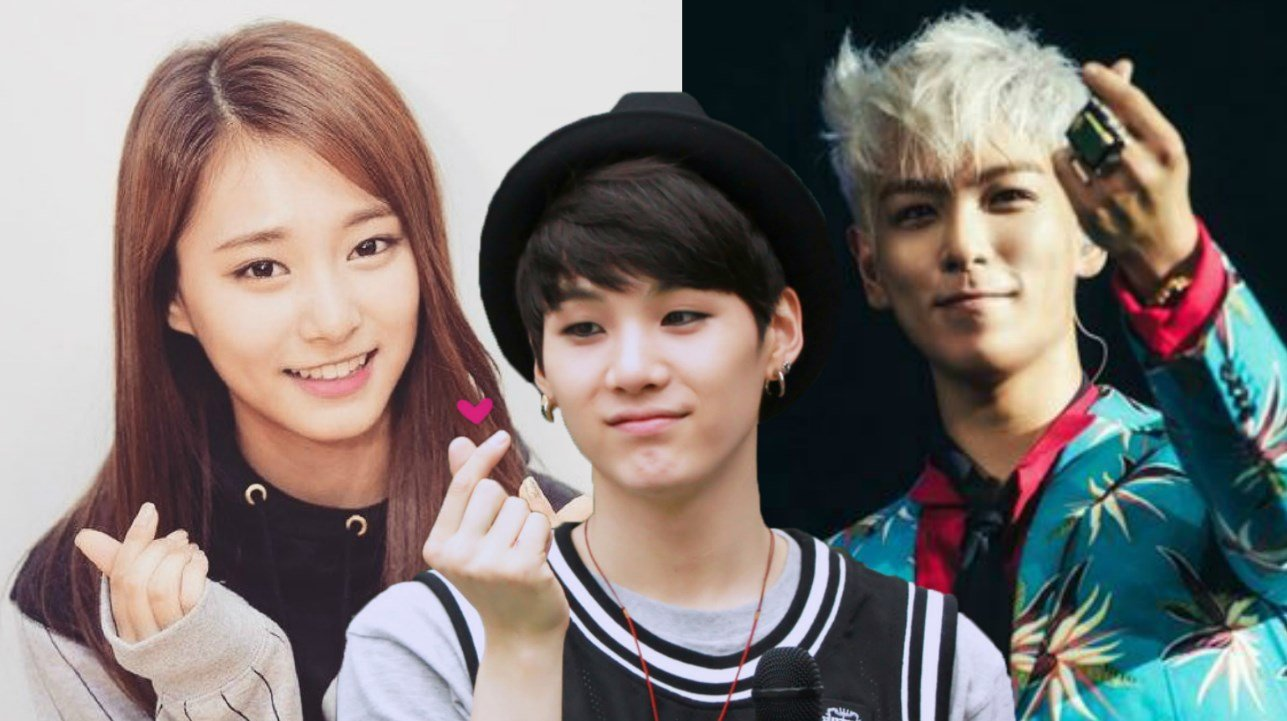 why k pop stars keep making this hand sign