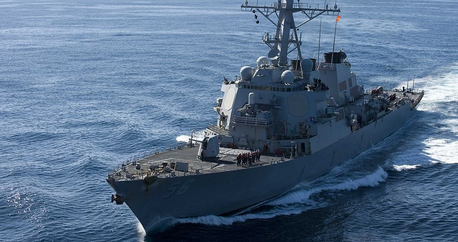 McCain collides with merchant ship