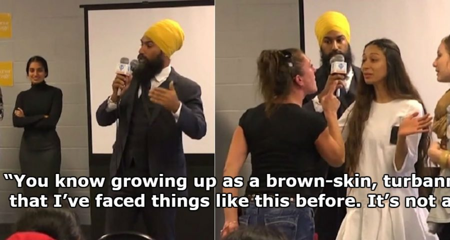 Canadian sikh politician awkwardly mistaken for a muslim by racist canadian sikh politician awkwardly mistaken for a muslim by racist heckler during meet and greet m4hsunfo