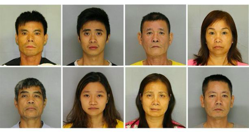 9 Asian Americans Busted For $7 Million of Marijuana in