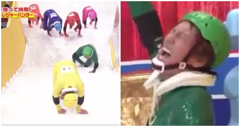 viral japanese game show slippery stairs is the best topic to