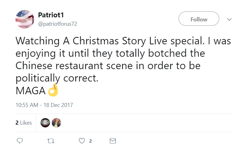 Christmas Story Chinese Restaurant.A Christmas Story Live Finally Changes That Racist Chinese