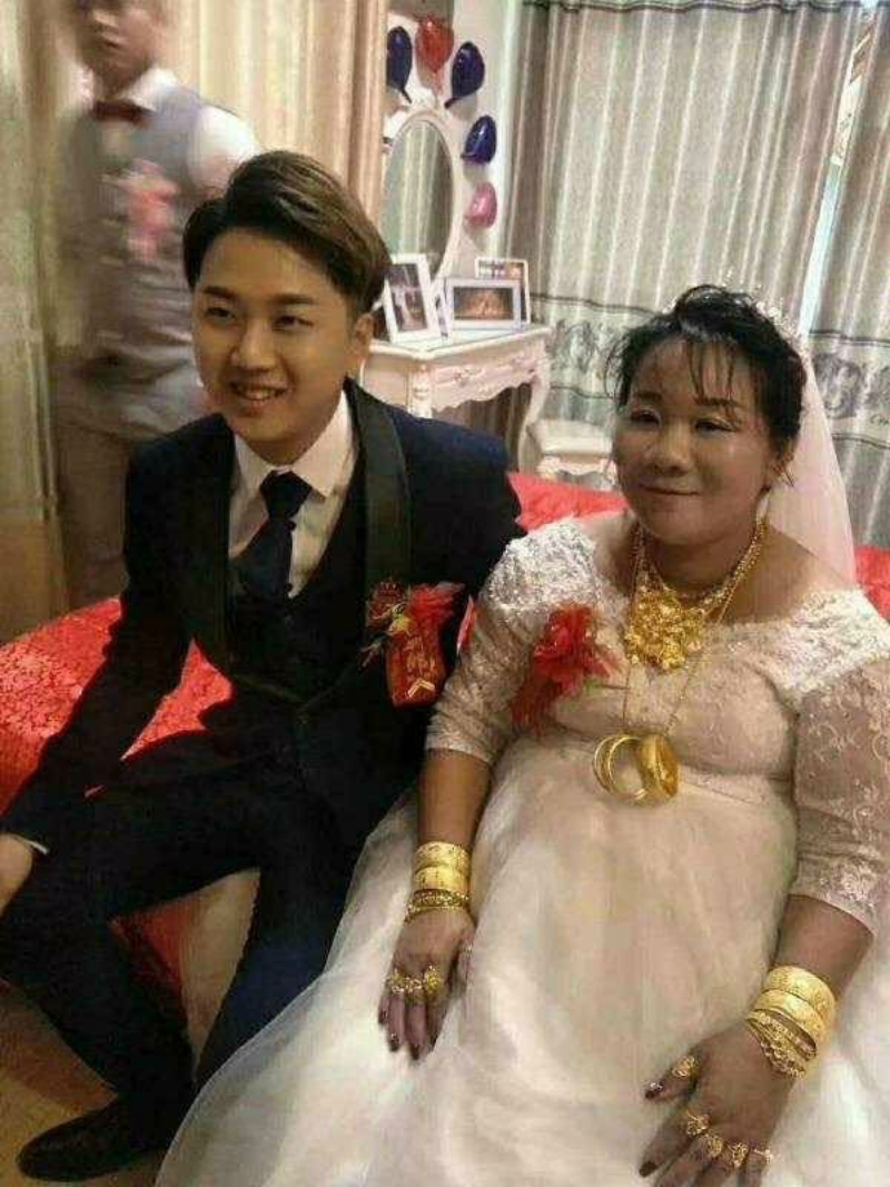 netizens question marriage between 23-year-old man and 38-year-old woman