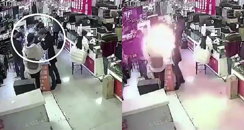 phone battery explosion in china
