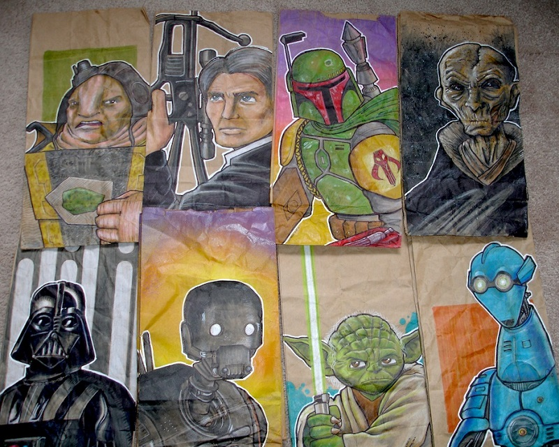 artist dad lunch bags