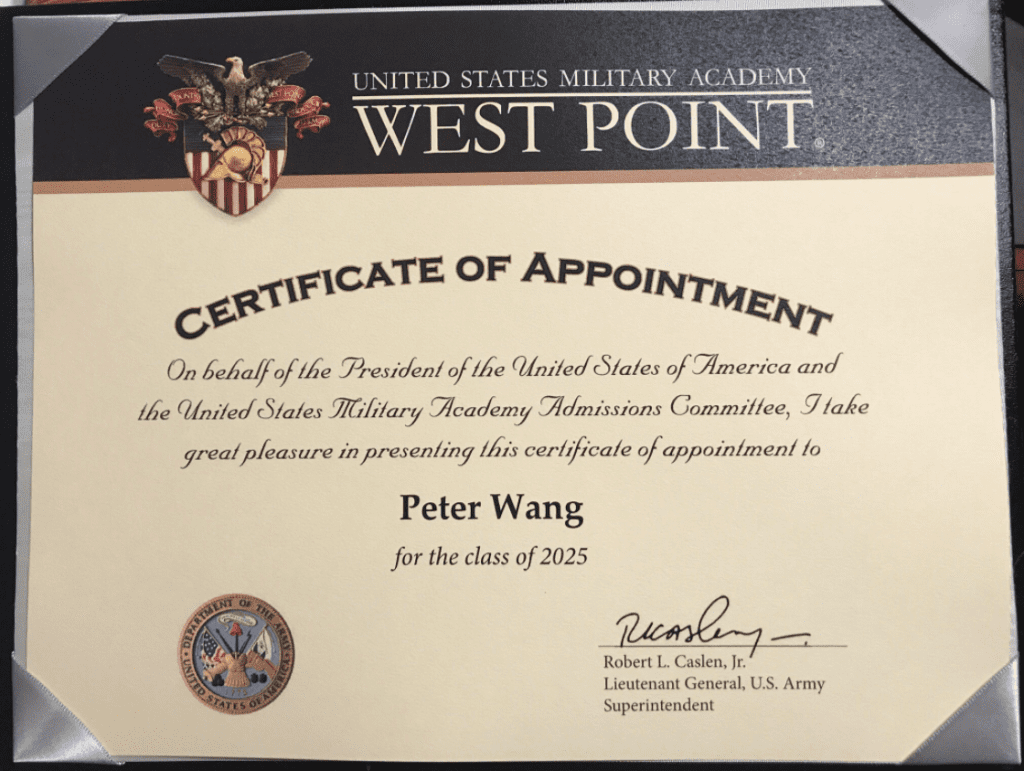 Peter Wang West Point