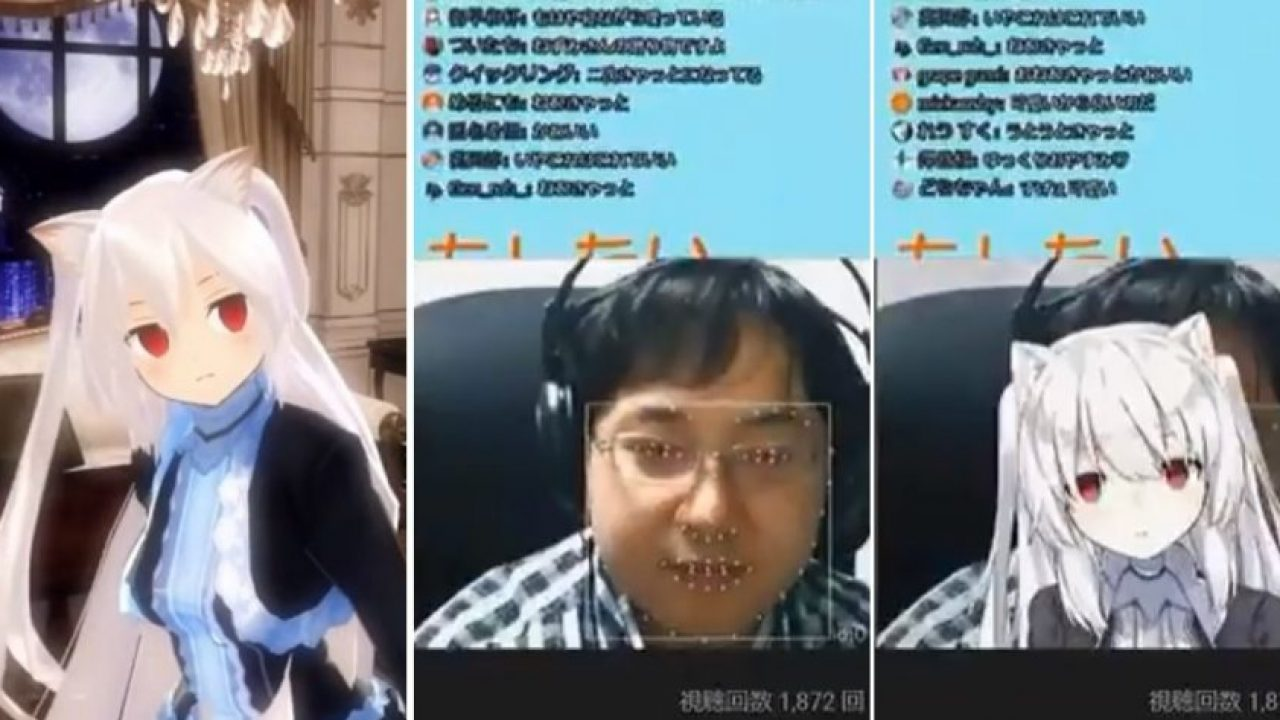 Virtual Anime YouTuber Revealed to be a Middle-Aged Man After Glitch