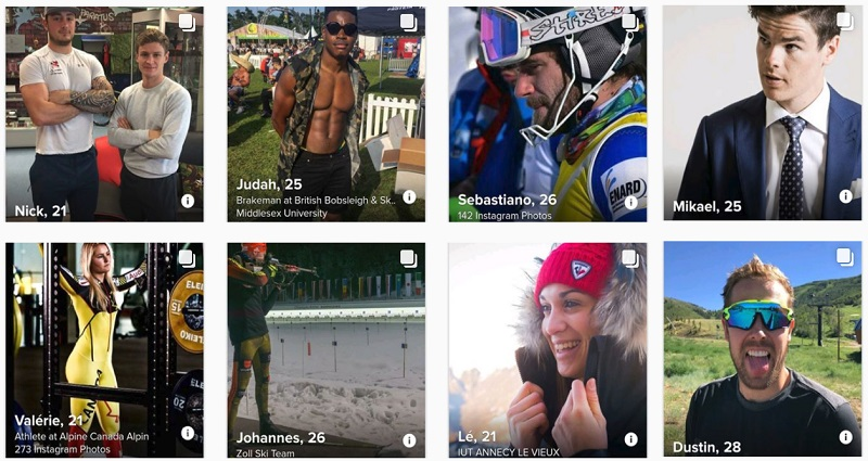tinder pyeongchang olympics athletes looking for some romance