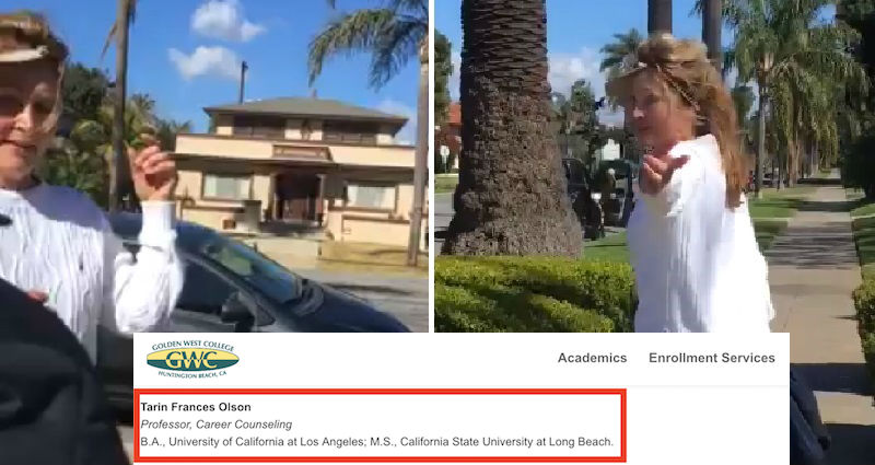 991c5e2cd1b6 Racist Woman Caught on Video Harassing Asian Couple Exposed As Golden West  College Professor
