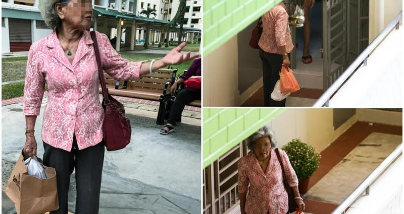 elderly Singaporean mother takes care of widowed daughter