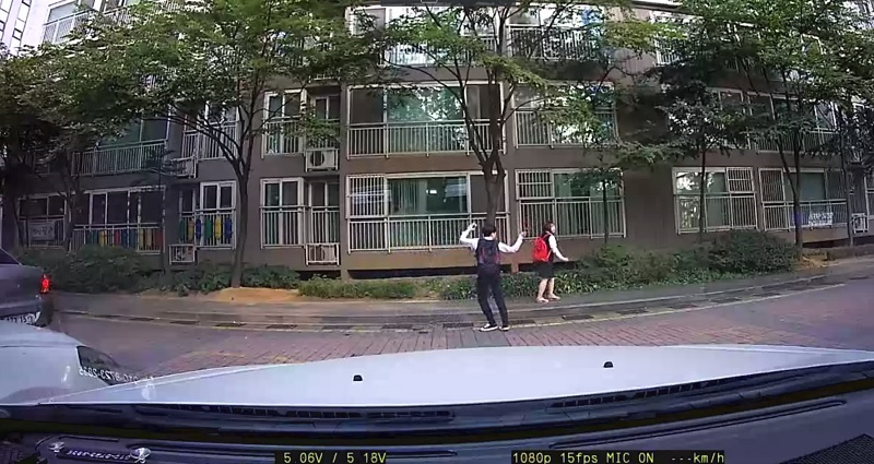 south korean students dancing in front of dashcam goes viral again