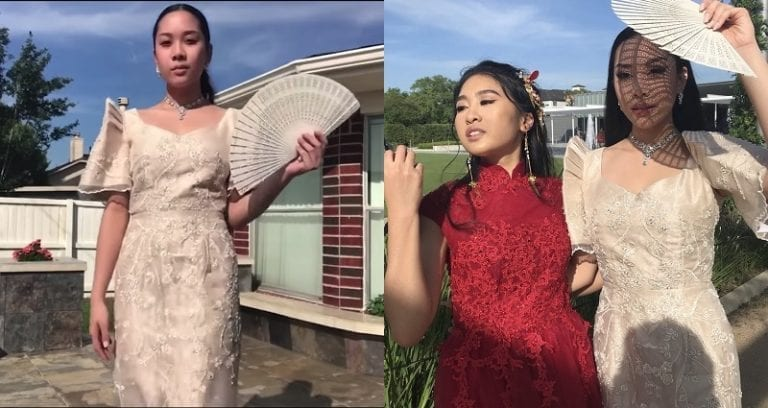 Teen Slays Prom After Rocking Traditional Filipiniana Gown