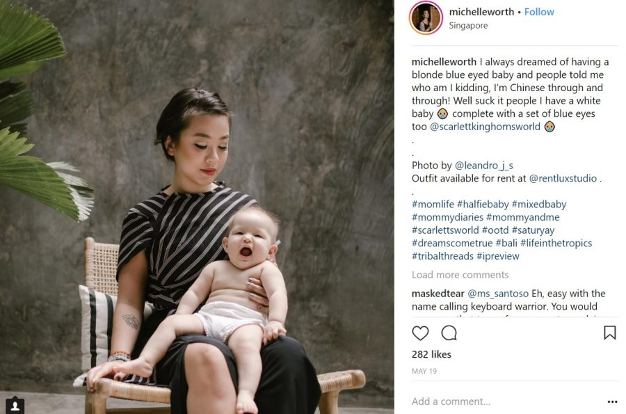 Asian Mom Who Dreamed of Having a 'Blue-Eyed Baby' Defends