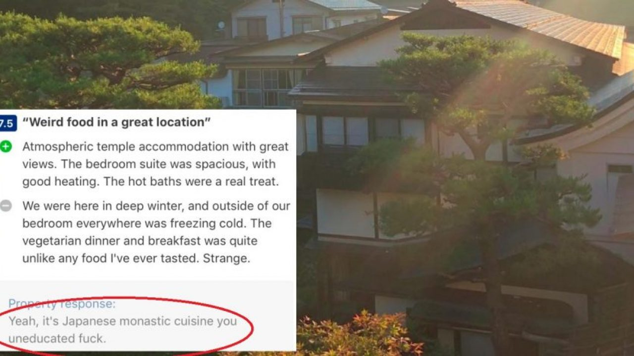 Japanese Monk Savagely Berates Tourists Who Post Bad Reviews of