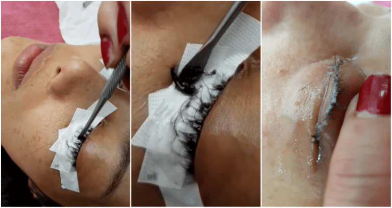 Thai Beauty Salon Uses Super Glue to Attach Woman's Fake Eyelashes