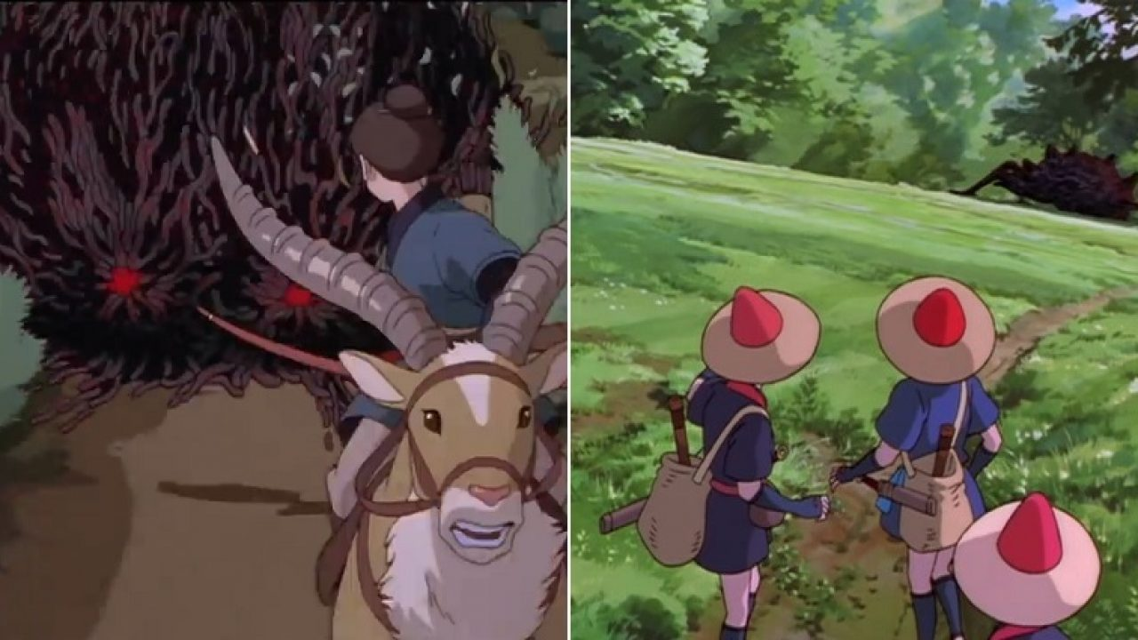 The Most Epic Princess Mononoke Scene Took Almost 2 Years To Draw By Hand