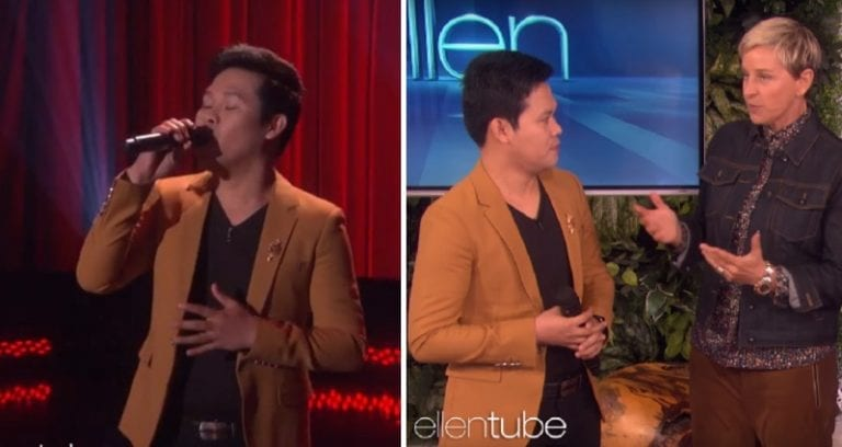Filipino Singer Performs As Both Andrea Bocelli and Céline