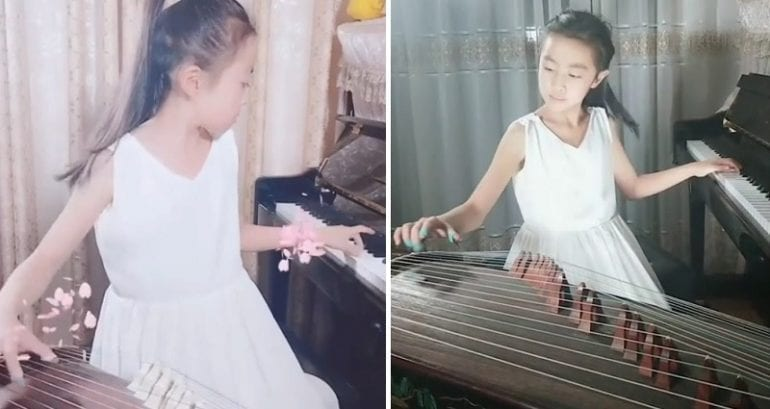 9-Year-Old Chinese Music Prodigy Can Play Piano and Guzheng