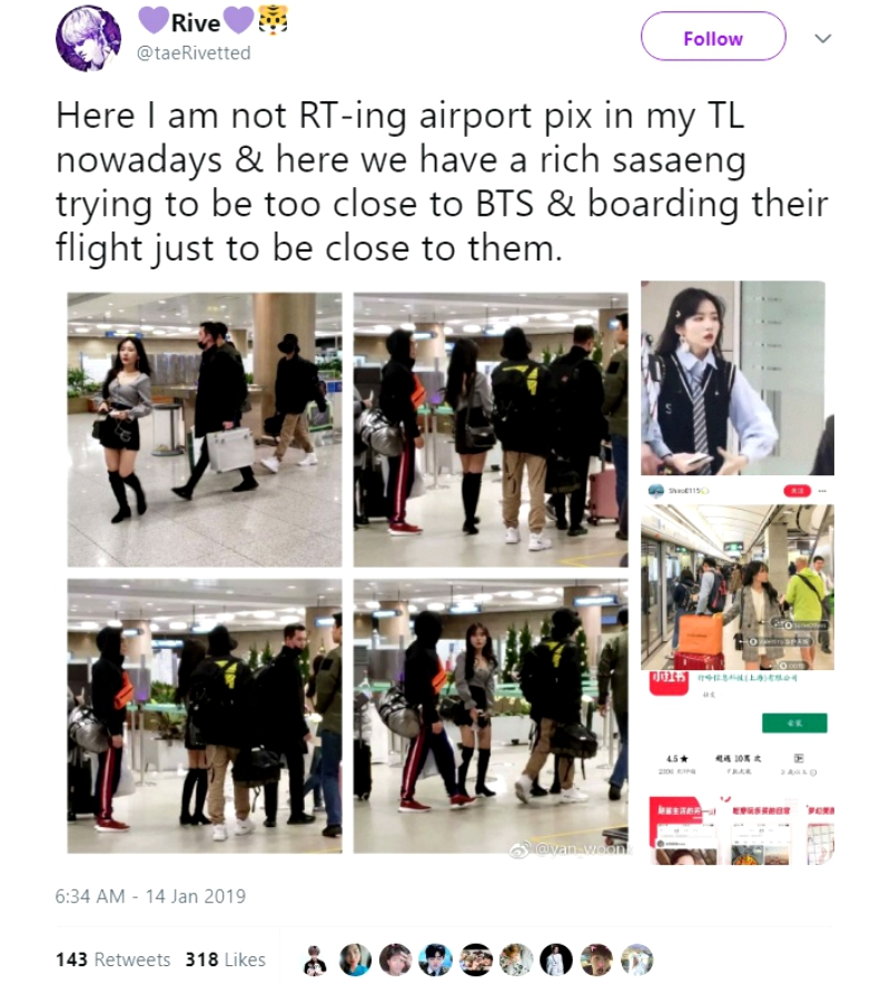 Fangirl With No Pants On Allegedly Stalks BTS at Airport