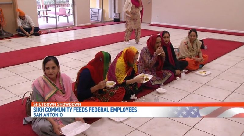 A Sikh community in southern Texas offered free meals to federal employees over the weekend amid the ongoing government shutdown.