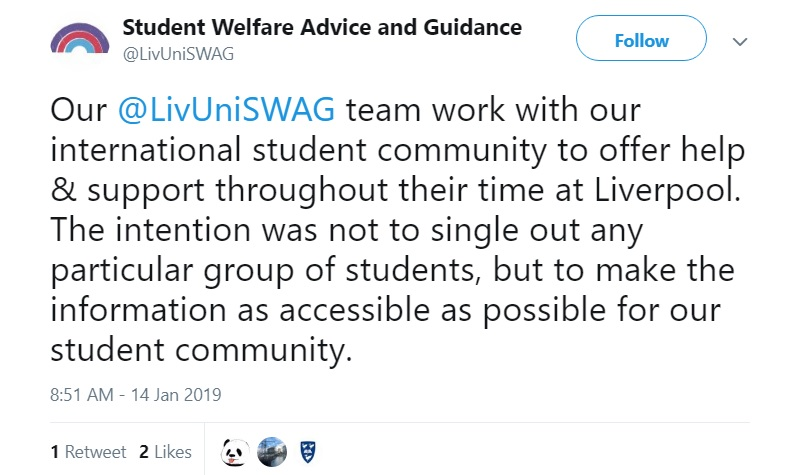The University of Liverpool sparked outrage after allegedly singling out Chinese students in an anti-cheating notice released ahead of exams this month.
