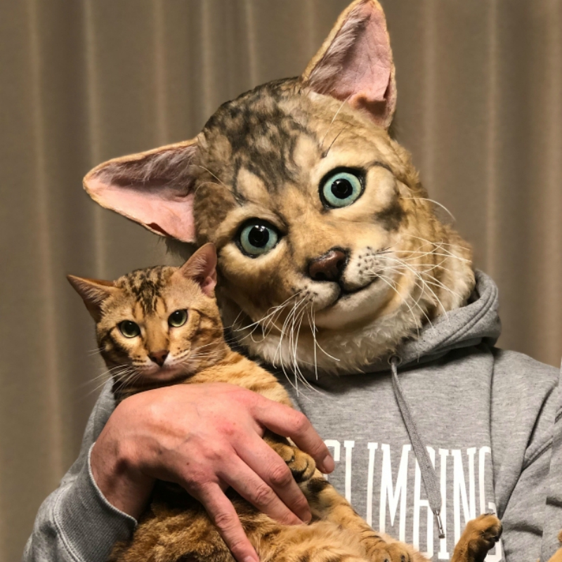 Cat lovers in Japan can now turn themselves into hyper-realistic clones of their pets.