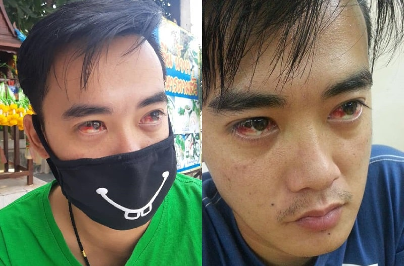 Images of Bangkok residents allegedly coughing up blood and suffering nosebleeds due to the city's pollution crisis have emerged on social media.